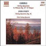 グリーグ:弦楽四重奏曲第1番, 第2番/ヨハンセン:弦楽四重奏曲 Op. 35