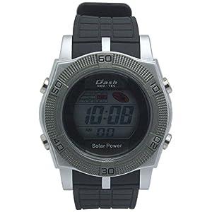 [アリアス]ALIAS 腕時計 ソーラー デジタル DASH 10気圧防水 ウレタンベルト シルバー ブラック AD06716SOL3 メンズ