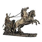 Veronese (ヴェロネーゼ) チャリオットに乗るアキレス ギリシャ神話 英雄 ホメーロスの叙事詩 ブロンズ風 フィギュア