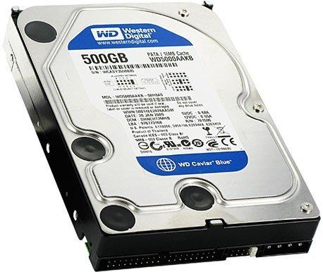 WesternDigital WD5000AAKB CaviarBlue 3.5inch 7200rpm 500GB 8MB PATA/100