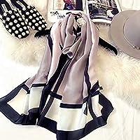 K-Elewon レディース スカーフ シルク ストール ショール 薄手 軽量 マフラー 冷房対策 日焼け止め 旅行 通勤用