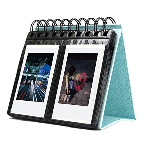 Amazing Works 写真 68 枚収納デスクカレンダー様式アルバム 富士フィルム Instant Mini 707s 82550s 90 ポラロイド z2300 ポラロイド pic-300p 対応 ブルー