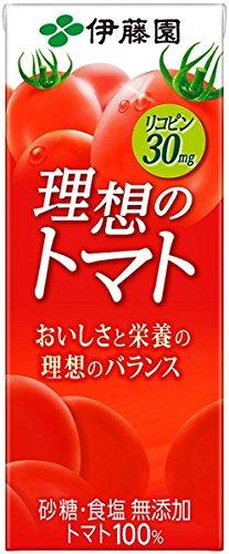 伊藤園 理想のトマト 200ml紙パック×24本入×(2ケース) B01LWER952 1枚目