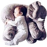 象 ぬいぐるみ ぞう 抱き枕 クッション 動物 おもちゃ 灰色 60cm