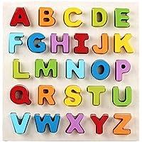 Lovely木製ハンドクラフトレターToy Shape /カラートイ幼児子供おもちゃファンシー玩具