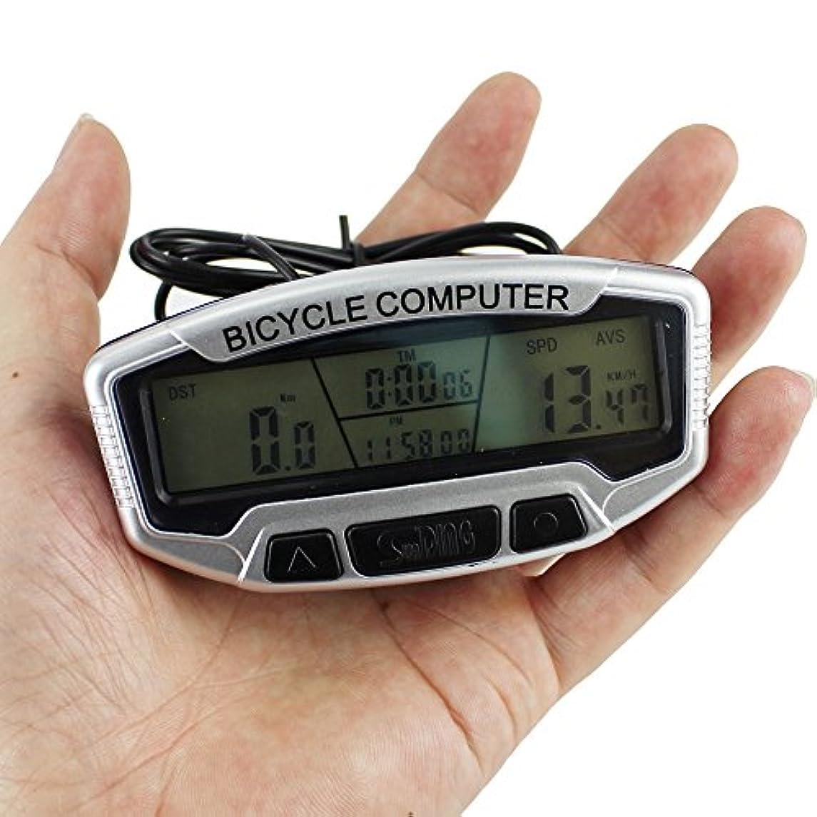 ティーンエイジャー商標浸漬ezyoutdoor 自転車 コンピューター 有線スピードとケイデンス 自転車 スピードメーター トランスミッション 大型液晶ディスプレイ 距離/時間/カロリー/温度追跡 多機能