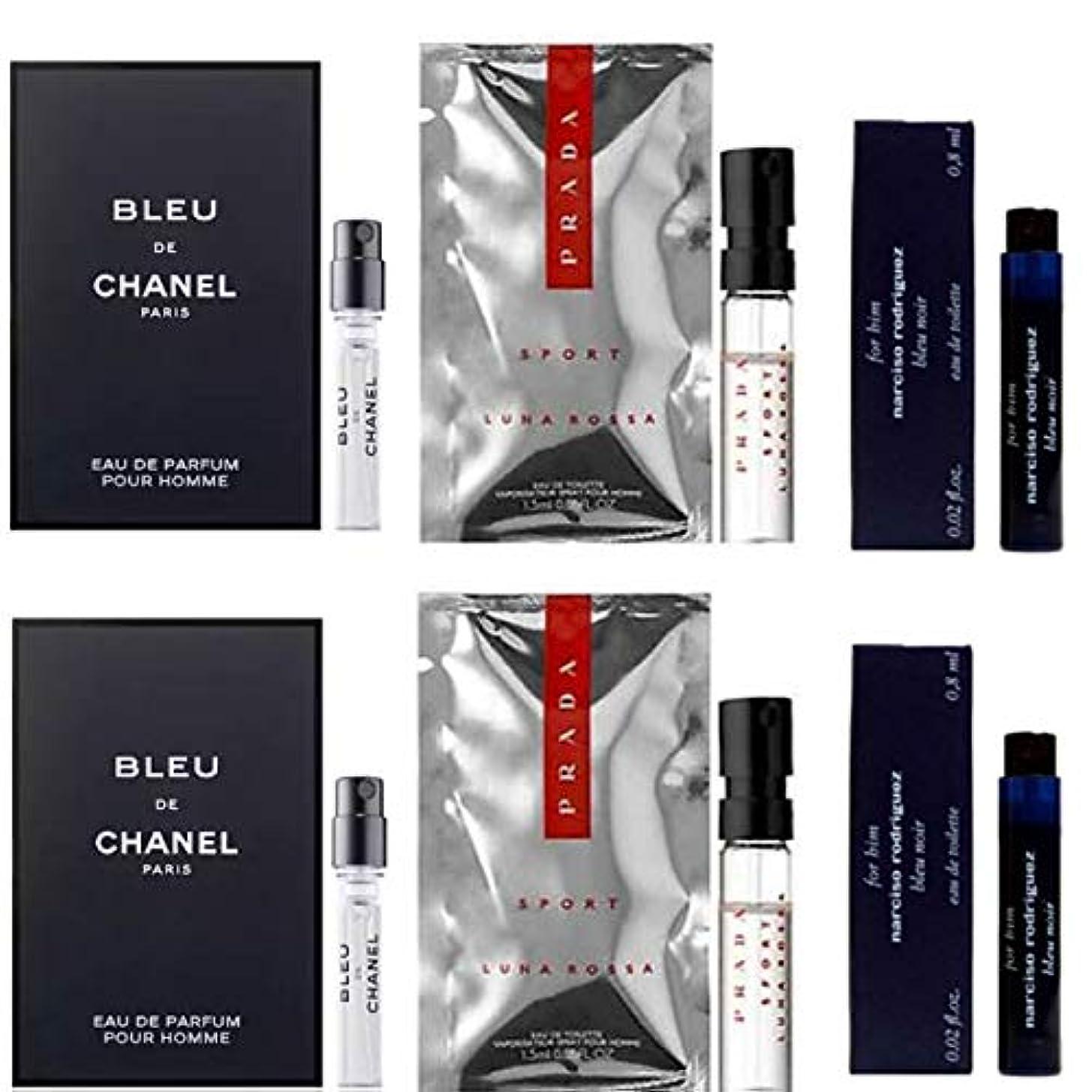 科学的糸パッケージ男性用 Eau de Parfum (Eau de Toilette) For Men Samples 6/set [海外直送品] [並行輸入品]