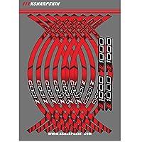 オートバイ 車輪 縁 リム 縞 反射 ステッカー 適応車種 カワサキ 川崎 Kawasaki Z1000 (レッド)