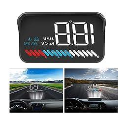 HUDヘッドアップディスプレイ GPS/OBD2モード搭載 車載スピードメーター フィルム付き 運転時速がフロントガラスに表示 警報機能付き 日本語マニュアル付きM7