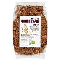 Amisa有機クリスピー綴らフレーク250グラム (x 2) - Amisa Organic Crispy Spelt Flakes 250g (Pack of 2) [並行輸入品]
