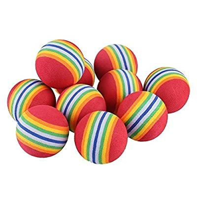 SHUYUE Colorful Soft Foam Rainbow Play Balls for Pet Dog and Cat
