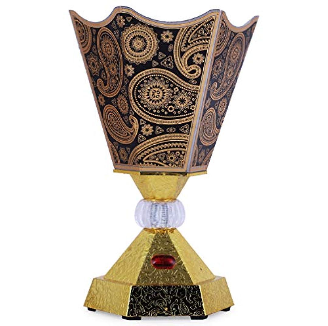 海藻クリスチャン血色の良いVintage Style Incense Bakhoor/Oud Burner Frankincense Incense Holder Electric, Best for Gifting IB-31-Black