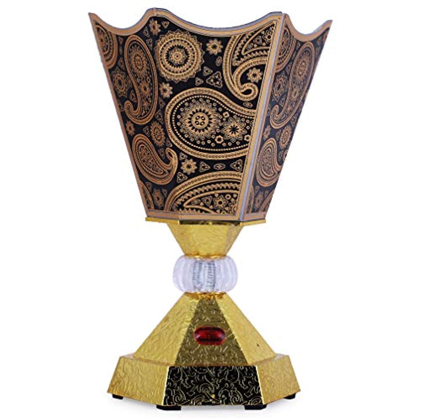 メモ芸術的ハントVintage Style Incense Bakhoor/Oud Burner Frankincense Incense Holder Electric, Best for Gifting IB-31-Black