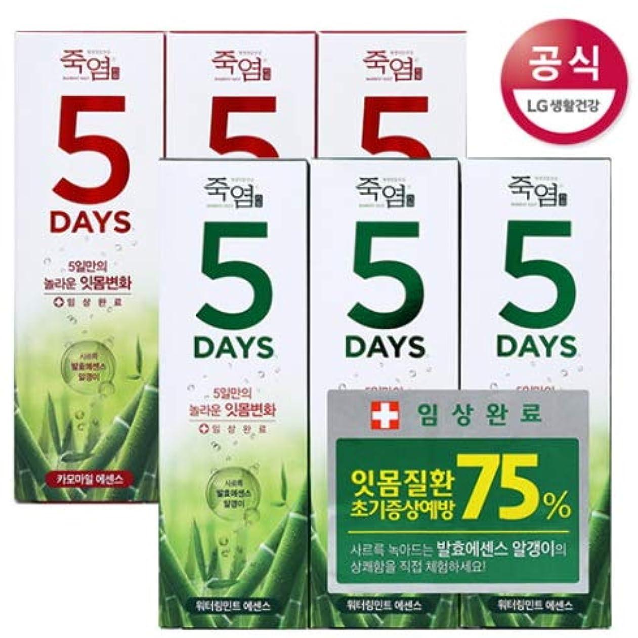 情緒的アノイテクニカル[LG HnB] Bamboo Salt 5days Toothpaste /竹塩5days歯磨き粉 100gx6個(海外直送品)