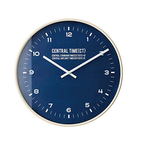 インターフォルム 電波掛け時計 セントラルタイム Central Time ネイビー CL-1479NV CL-1479NV