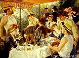 ルノアール 「舟遊びする人々の昼食」 原画同縮尺近似 (12号) renoir-09-03