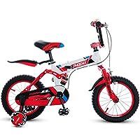 DGF 子供の折りたたみ自転車14/16/18インチの男の子サイクリングガール3-12歳のベビーカーの子供のマウンテンバイク (色 : B, サイズ さいず : 16 inches)