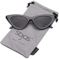 SojoS Clout Goggles Cat Eye Sunglasses Vintage Mod Style Retro Kurt Cobain Sunglasses SJ2044