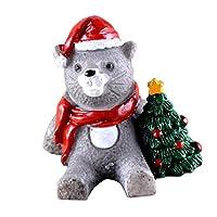 Fenteer ミニ飾り 風景樹脂盆栽 庭 装飾 クリスマス 工芸装飾 全18種 - ネコ