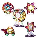 VOOPH マグネットブロック 磁石ブロック マグネット積み木 ゲーム おもちゃ 87ピース入り 立体パズル マグマジックブロック 車セット/かんらんしゃセット/ピース レインボーセット 子供用 モデルDIY 知育おもちゃ 赤ちゃん 集中力 想像力 創造力を育てる知育玩具 3歳以上 お誕生日 お祝いプレゼント