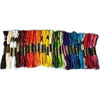 綿 25番刺繍糸 DMCと同じ色番号 常用色28色30本セット クロスステッチ、ミサンガ等に最適 (常用色30) [並行輸入品]