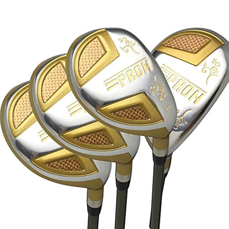 Japan Epron TRG Hybrids Golf Club Wood Set + Leather Cover(16,19,21,24 Degree Loft,Regular Flex,Grip Standard,Pack of 4)