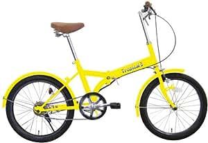 ミムゴ 20インチ折畳み自転車 トロピカルファイブ(イエロー) MG-OEM20-YE