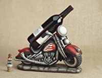 Motorcycle Hog Cycle Wine Bottle Holder with FREE Topper
