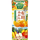 カゴメ 野菜生活100 有田みかんミックス 195ml×24本