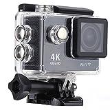 4K スポーツカメラ 2.0インチLCDスクリーン Wifi機能搭載 H.264ビデオ圧縮 170度広角レンズ 30M 防水ケース付き アクションカメラ(ブラック)