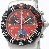 【TAG HEUER】タグホイヤー 2000 フォーミュラー 1 クロノグラフ レッド文字盤 ステンレススチール クォーツ メンズ 時計 CA1215 中古