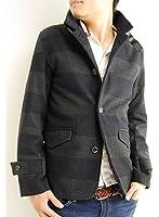 ARCADE(アーケード) 7color メンズ メルトン ラウンドカラー シングルジャケット