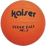 Kaiser(カイザー) ゴム ドッジ ボール KW-188 【色指定不可】 ボールネット付 小学生 レクリエーシ...