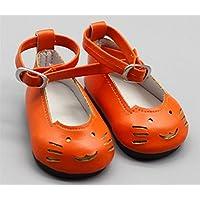 HuaQingPiJu-JP 18インチの人形かわいい猫の靴(オレンジ)