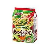 クノール たっぷり野菜のちゃんぽん風スープ 4食P