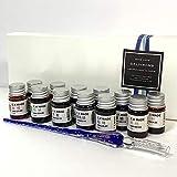 ガラスディップペン12色セット・文字・イラスト・絵画・スケッチ・アート (ラメ紺色)