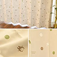 【2300サイズ以上×15デザイン&カラーから選べる!】 カーテン ジブリ 遮光3級 形状記憶 洗える 日本製 セミオーダー イージーオーダー 「森の贈り物」 アイボリー Aフック 幅165cm × 丈100cm 1枚単品 【受注生産品】