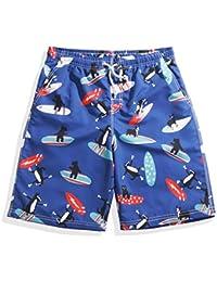 マルチサイズ クイックドライクールビーチパンツ ブルー メンズ ルーズ 快適なスポーツのショートパンツ (サイズ : XL)