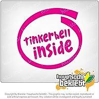 内側のティンカーベル Tinkerbell inside 11cm x 11cm 15色 - ネオン+クロム! ステッカービニールオートバイ