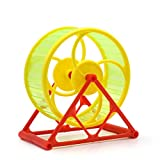 Kingdetectorペット用品 ハムスター用おもちゃ 面白い回し車 ペットおもちゃ 遊び道具 ストレス解消 ケージ飾り用部品 (グリーン)