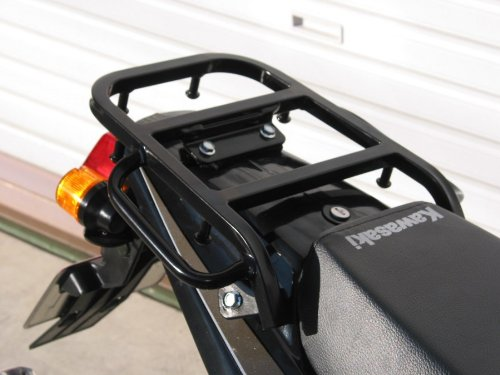ライディングスポット(RIDING SPOT) リアキャリア スチール製 195×223mm ブラック KSR-2[80cc] KSR-1[50cc]