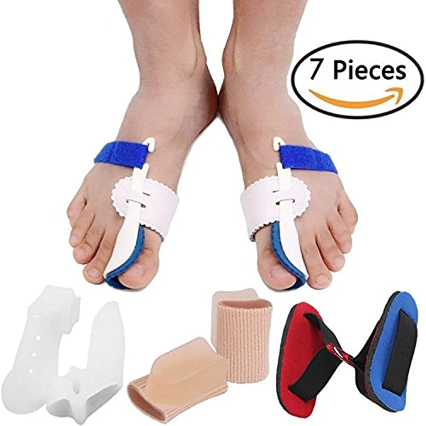 ジュニアチューブ助手Bunion Corrector Bunion Relief Protector Sleeves Kit, Big Toe Corrector Straightener Separator Treat Pain in Hallux...