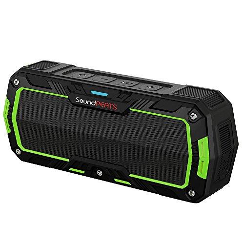 SoundPEATS サウンドピーツ Bluetooth スピーカー IP65等級防塵防水対応【メーカー1年保証付】10時間連続再生 耐衝撃 マイク搭載 通話可能 ブルートゥース スピーカー Bluetooth Speaker P3 オリーブグリーン