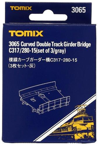 TOMIX Nゲージ 3065 複線カーブガーター橋C317・280-15 (3枚セット) (灰)