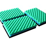 LTWHOME Fish Pond Foam Filter Sponge Set 430mm X 280mm Media,17-Inch X 11-Inch MEDIA(Pack of 3 Set )
