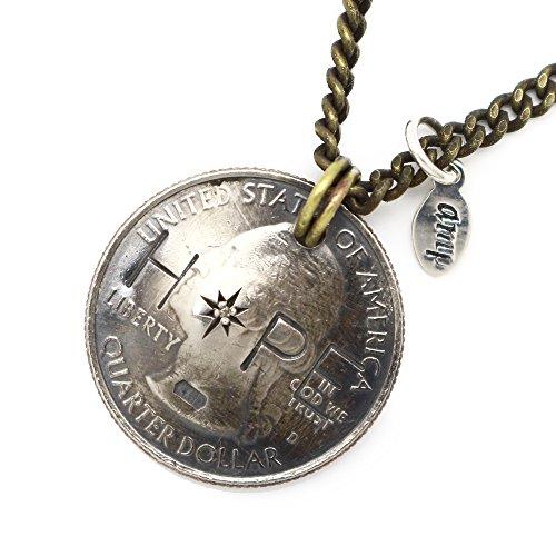 """[アンプジャパン]amp japan HOPE / 11AD-214 / QUARTER DOLLAR / REAL COIN NECKLACE """"HOPE"""" ONE COLOR"""