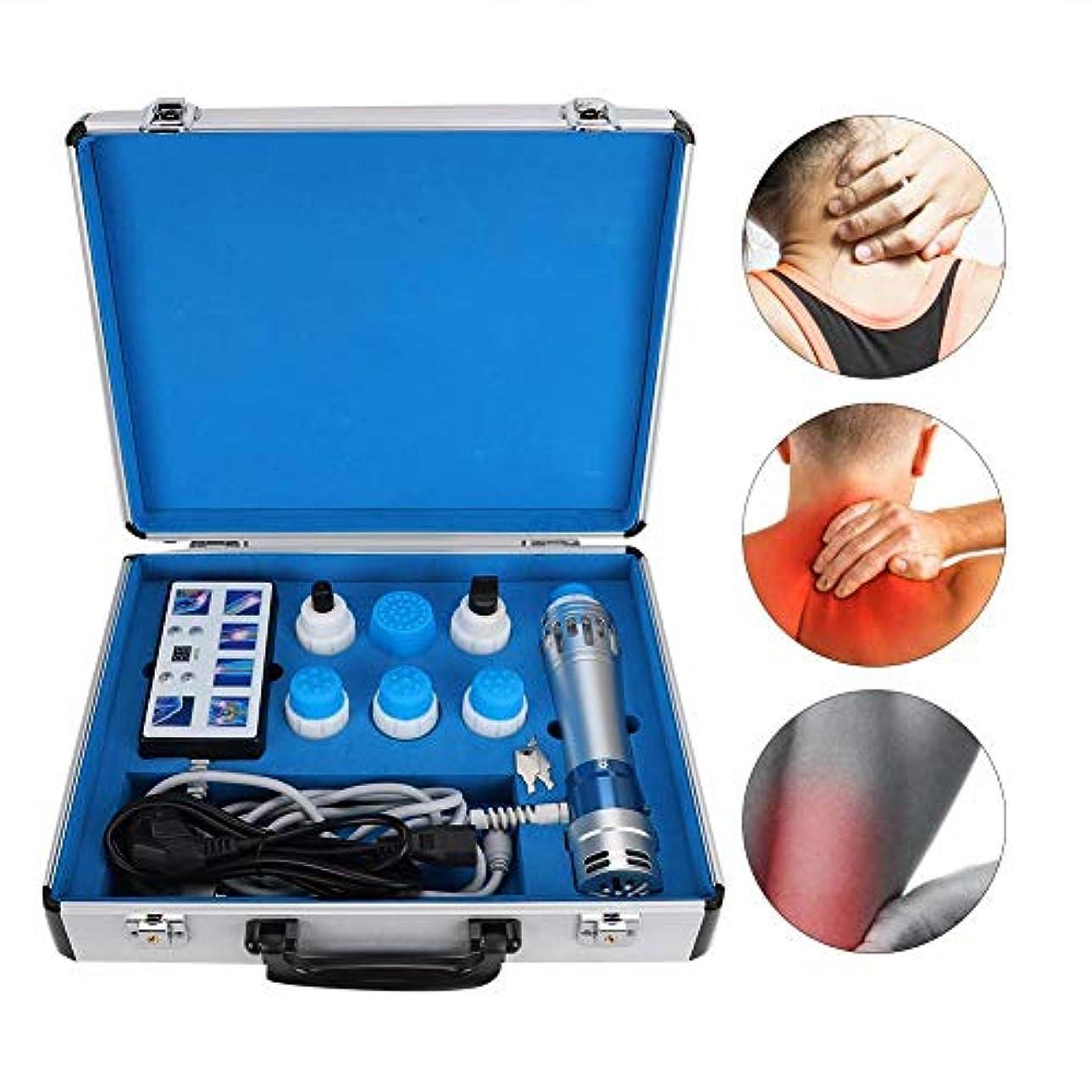 ターミナルパテ葉っぱED体外衝撃波治療器、多機能疼痛緩和マッサージ器(USプラグ110V)