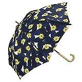 w.p.c 雨傘 リーフィー 長傘 手開き ネイビー 58cm 8608-07