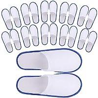 24 Pair Spa Flip Flops Disposable Slippers for Hotel Guests Women, Men Closed Toe Super Comfort, Men's 8.5 or Women's 11