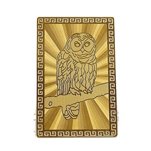 開運カード 黄金の開運護符 フクロウ 梟 お財布の中・金庫の中に 開運グッズ 開運財布 金運